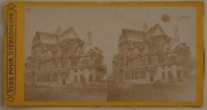 Chiesa st.Eustache Parigi Francia Foto Stereo L44 Vintage Albumina c1870