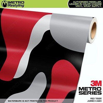 MINI VAMPIRE RED Camouflage Vinyl Vehicle Car Wrap Camo Film Sheet Roll Adhesive