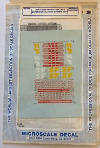 MICROSCALE N SCALE-SOUTHERN PACIFIC-SANTA FE/SPSF EXPL '85 DIESEL SCHEME #60-469
