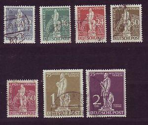 Berlin 1949 gestempelt  MiNr. 35-41   75 Jahre Weltpostverein