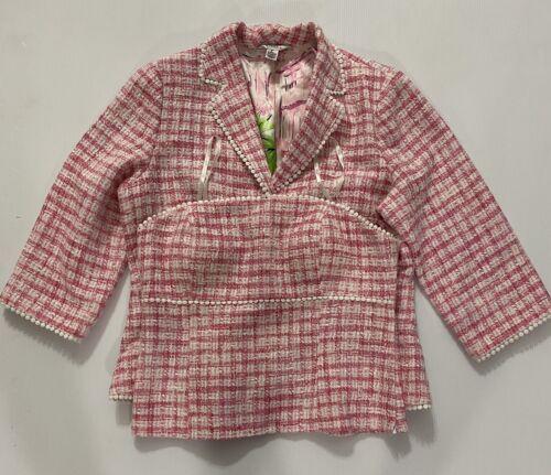Lily Pulitzer Womens Pink Gingham Blazer Size 14