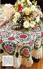 BEAUTIFUL Flower Garden Tablecloth/Doily/CROCHET PATTERN INSTRUCTIONS ONLY