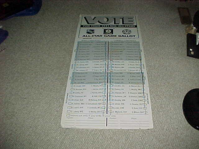 "1991 NHL Hockey Chicago Blackhawks Arena All Star On Site Ballot 27"" x 60"""