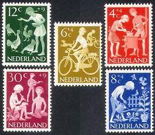 Netherlands 1962 Welfare Fund/Children/Cycling/Bikes/Music/Chickens 5v (n39912)
