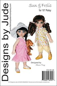 "Sun & Frolic Doll Clothes Sewing Pattern for 10"" Patsy & Ann Estelle Tonner"