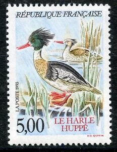 STAMP-TIMBRE-FRANCE-NEUF-N-2788-FAUNE-CANARD-CANARD-HARLE-HUPPE