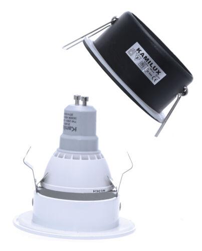 Bad Aussen Einbaustrahler Aqua IP65 GU10 Fassung Nassraumleuchte Feuchtraum spot
