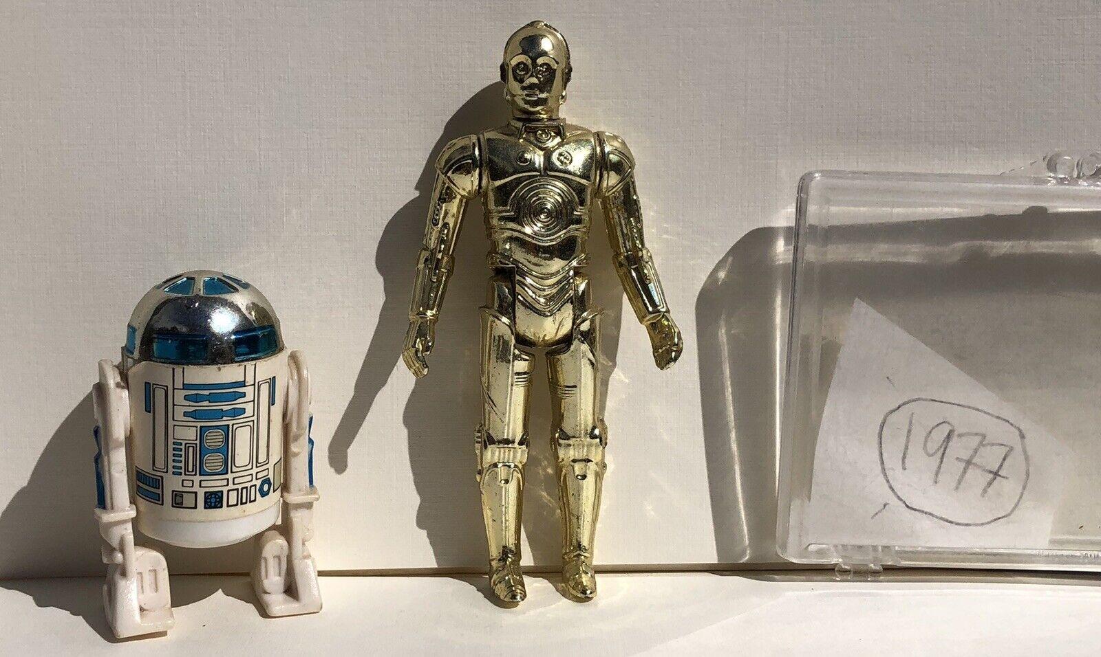 1977 Jahr Stern Wars C3-PO R2-D2 Wirkung Figures Droids First 12 Original