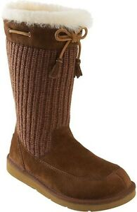 a1830b37a67 Details about New UGG Uggs Kids SUBURB CROCHET Brown in Suede BOOTS 13