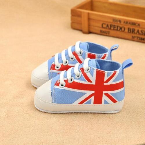 Newborn Baby Boy Girls Canvas Crib Shoes Soft Sole Anti-slip Pram Sneakers 0-24M