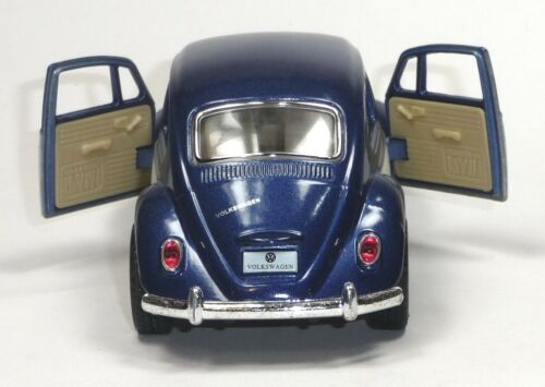 Nuevo 1967 maqueta de coche 1:32 metal moldeo por inyección azul//blanco 12,5cm Kinsmart VW Escarabajo