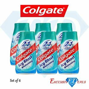 Colgate-Icy-Blast-Toothpaste-amp-Mouthwash-Tooth-Whitening-Travel-Size-6-x-100ml