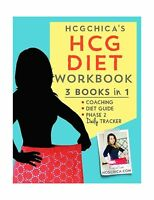 Hcgchica's Hcg Diet Workbook: 3 Books In 1 - Coaching Diet Guid... Free Shipping