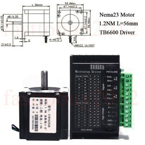 Nema23 Stepper Motor 1.2NM+TB6600 Driver Kit 1.8° 4-wires 56mm 2Ph on 4 wire treadmill motor wiring, 4 wire rectifier wiring, 4 wire touch panel, 4 wire switch wiring, 4 wire voltage regulator wiring diagram, ramps 1.4 wiring, stepping motor wiring, arduino lcd wiring, 4 wire sensor wiring,
