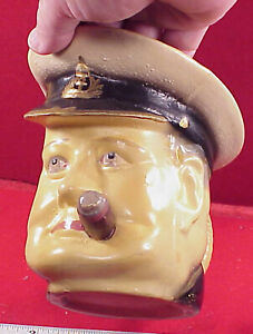 Rare-Toby-Mug-Winston-Churchill-WWII-British-Pitcher-1st-LORD-OF-ADMIRALTY