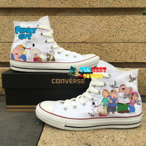 768a5c7524a70e CONVERSE All Star FAMILY GUY cartoon TV series hand painted shoes ...