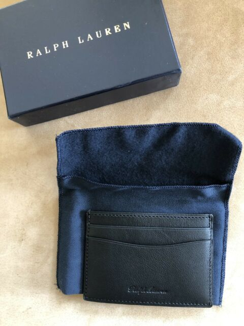 cf1553dee Polo Ralph Lauren Purple Label Mens Slim Leather Credit Card Wallet Italy  Black for sale online | eBay