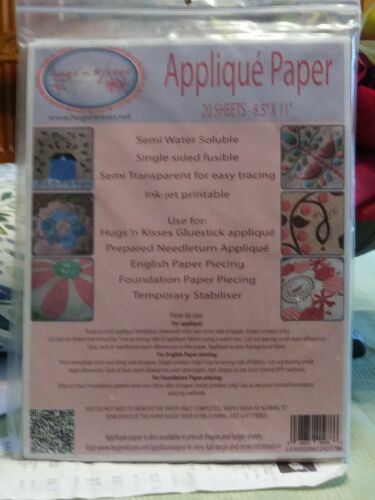 New Unopened Applique/' Paper 20 Sheets-8.5/'/'x11/'/'