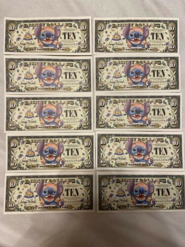 Disney Dollar Stitch Mint Uncirculated With barcode Series A