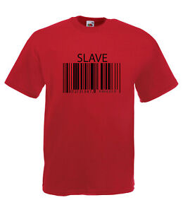 26449bba58 Image is loading SLAVE-TO-THE-MACHINE-BARCODE-GRAPHIC-HIGH-QUALITY-