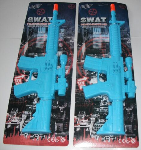 """2 x Jouet S.W.A.T Police mitrailleuses 17/"""" avec sons."""