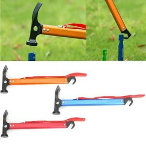 Camping-Tent-Mallet-Hammer-Peg-Stake-Extractor-Puller-Lightweight-Hiking-Tool-UK
