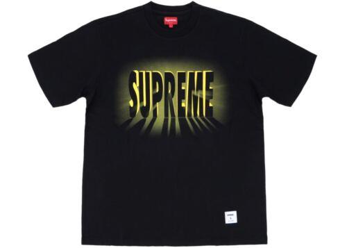 SUPREME Light Short Sleeve S//S Top Black S M box logo camp cap tnf F//W 18