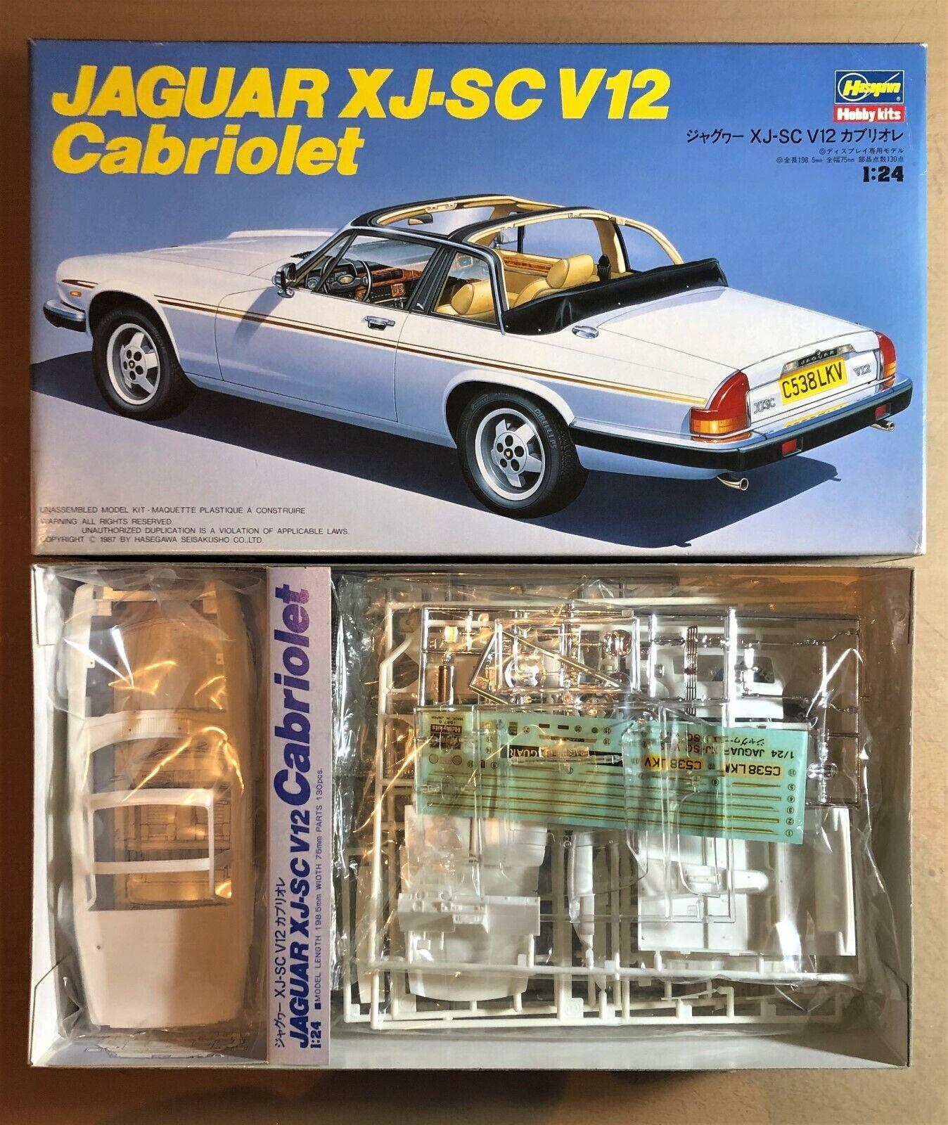 HASEGAWA CA010 1800 - JAGUAR XJ-SC V12 CABRIOLET - - - 1 24 PLASTIC KIT d78846