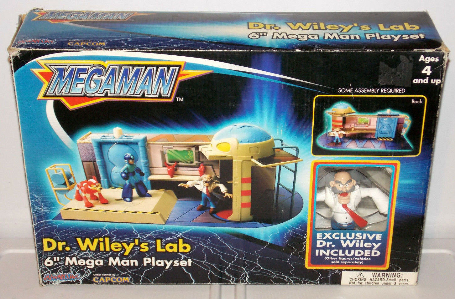 2005 Mega Man  Dr. Wiley's Lab 6  Action Figures Playset Toys Kids Capcom RARE