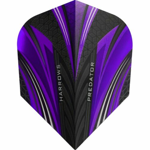 Harrows Prime Predator Dart Flights Standard Purple 1 Pack of 3 Flights