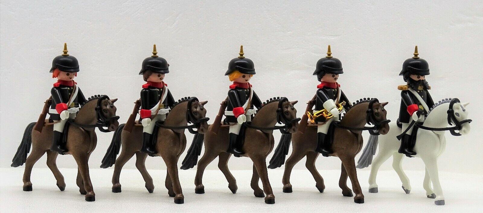 PREUSSEN  GARDE cavalier officier Playmobil à Prussian WW Chevaux Boutons Capot RAR  commandez maintenant profitez de gros rabais