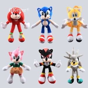 Hedgehog-Plush-Toys-Amy-Rose-Knuckles-Sliver-Tails-Shadow-Stuffed-Animal-Dolls