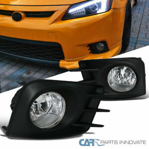 11 12 13 SCION TC BUMPER DRIVING CHROME FOG LIGHT LAMP KIT W//BULB+HARNESS+SWITCH