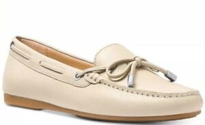 2aea0f8e11a New Michael Kors Sutton Moc Moccasin Flats ecru loafers bow leather ...