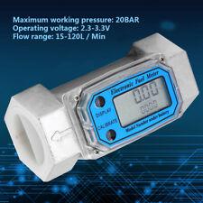 15 120l Turbine 15 Digital Flow Meter Gasoline Water Liquid Fuel Metering Zr