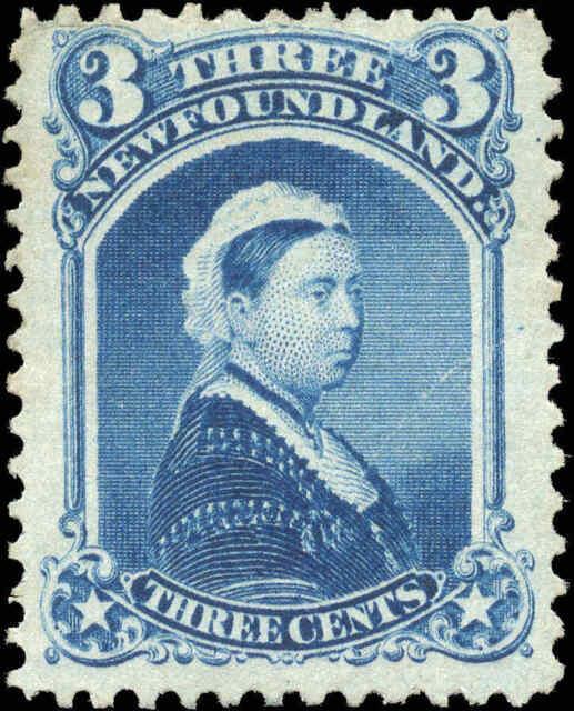 Mint NG Canada Newfoundland 1873 F+ 3c Scott #34 Queen Victoria Stamp