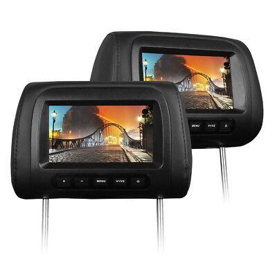 """2x 17,8 cm LCD TFT 7"""" Digital Display MONITOR KOPFSTÜTZE FÜR AUTO KFZ DVD DVB-T"""