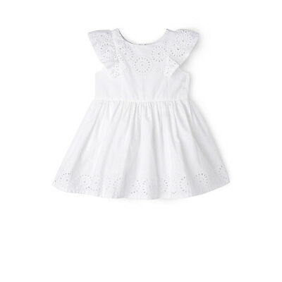 NEW Sprout Flutter Sleeve Dress White