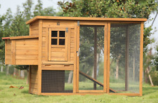 Lovupet 72'' Wooden Chicken Coop Backyard Nest Box Pet Cage Rabbit Hen Hutch