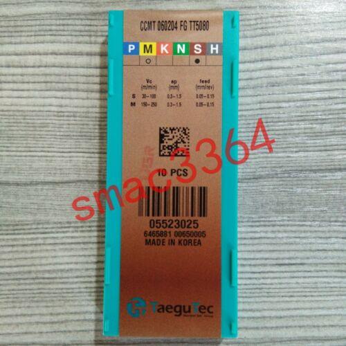 10PCS//box Neu Taegutec CCMT060204FG TT5080 CNC blade