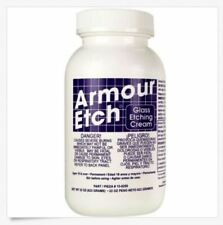 Set of 2 Armour Etch Glass Etching Cream Window Glassware 22 oz easy to use!