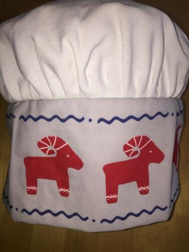 IKEA VINTERFEST Kochmütze,rot weiß Kinder 304.323.09 Kochmützen Backen NEU