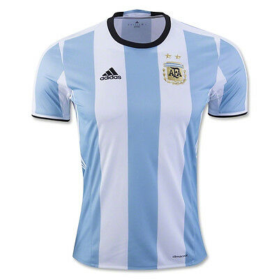 NEW MEN/'S ADIDAS SOCCER ARGENTINA HOME JERSEY CLEAR BLUE////WHITE-BLACK AH5144