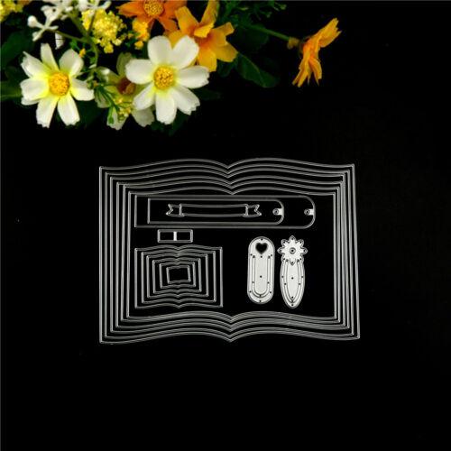 Vivid Books Frame Customized  Cutting Dies DIY Scrapbooking Album Craft Dies HGU