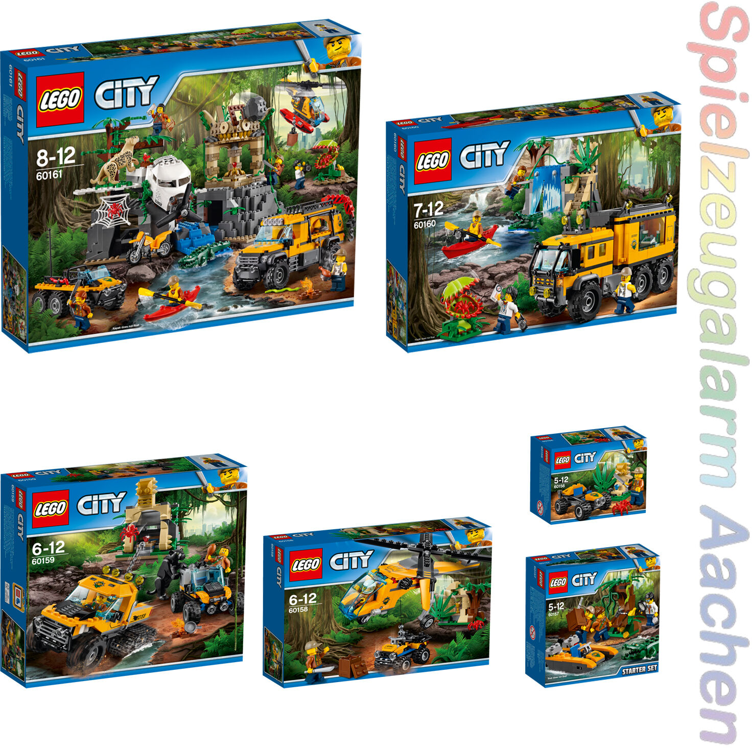 Lego City Jungle Full Collection 60156 60157 60158  60159 60160 60161 n7 17  détaillants en ligne