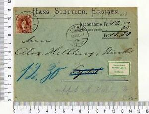 A8169-SUISSE-Cover-4-12-1906-Ersigen-Lyss-Ersigen-6-12-1906