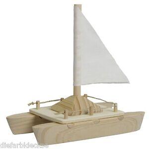 Katamaran Bausatz Holzboot Boot Mit Segel Bauen Holz Selber Bauen