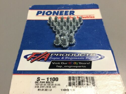 Small Block Chevy Ford Engines Oil Pan Bolt Set Pioneer S-1100
