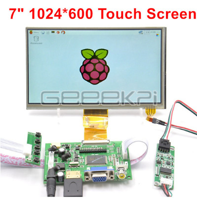GeeekPi 7/'/'1024*600 Capacitive Touch Screen LCD Display DIY Kit for Raspberry Pi