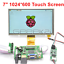 thumbnail 1 - GeeekPi-7-inch-1024-600-LCD-Touch-Screen-Display-TFT-for-Raspberry-Pi-4-B-PC